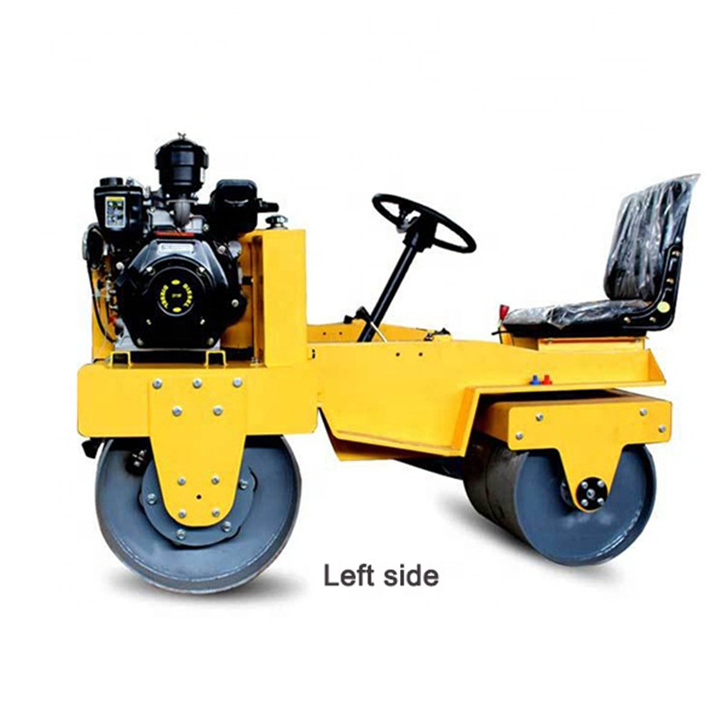 1000KG 2020 New Double Drum Ride On Road Roller Compactor Machine Vibration Frequency70HZ Exciting Force 50KN