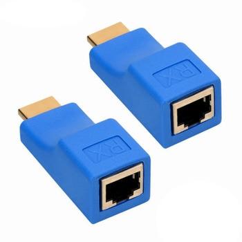 1 пара RJ45 портов 4K HDMI удлинитель до 30 м по категории 5e сетевой Ethernet LAN адаптер для HDTV HDPC DVD PS3 STB