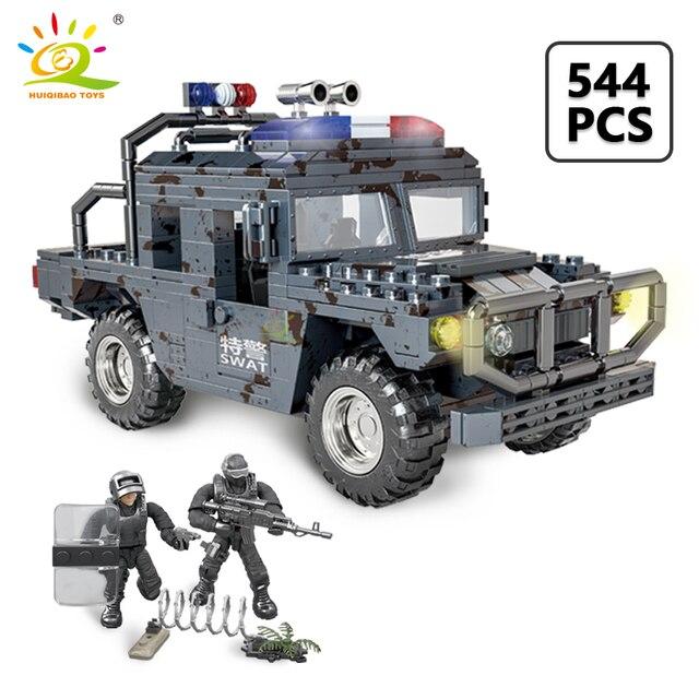 """Конструктор HUIQIBAO """"Военный грузовик"""", 544 шт."""