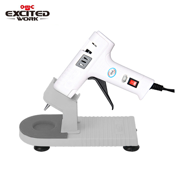 40W Hot Melt Glue Gun Glue Stick Industrial Mini Gun Professional Base Hot Temperature Tool Bracket 7mm Set By EXCITEDWORK
