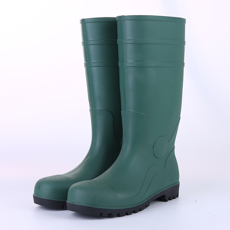 Green Steel Top Steel Insole Protection Boots Labor Safety Smashing Wear-Resistant Anti-slip Acid And Alkali Resistant Oil Resis