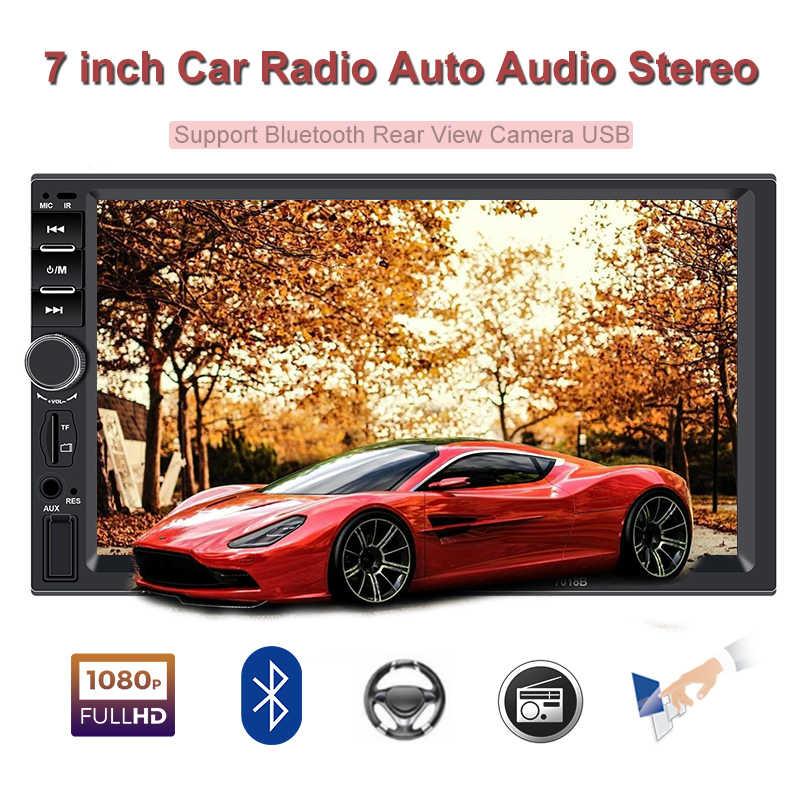 2 Din araba radyo 7 'ekran bluetooth autoradio otomatik stereo kaydedici oynatıcı 2din android FM otomatik ses kaset çalar ayna bağlantı
