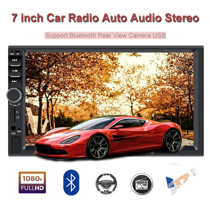 2 Din <font><b>car</b></font> <font><b>radio</b></font> 7' screen bluetooth autoradio auto stereo recorder player <font><b>2din</b></font> android FM auto sound cassette player mirror link image