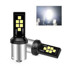 цена на 2pcs Signal light High brake light 1156 3030 LED PY21W 12SMD BAU15S DRL Car Brake Turn Signal Light Bulbs