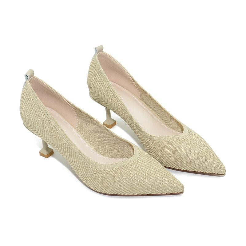 Sandiex Women Casual Pumps High Heels Lady Shoes