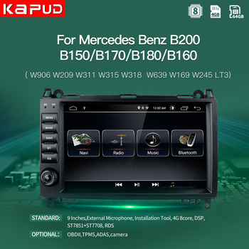 Kapud Multimedia Car Auto Radio Stereo Receiver Android Navigation For Mercedes Benz B200 W169 W639 Viano Vito Sprinter GPS DVD image