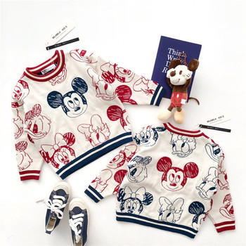 Winter Baby Boys Girls Mickey Sweater Knitting Clothes Toddler Kid  Jacquard Stereo Sweaters Children's Clothing Drawing Cartoon baby boys and girls cardigan sweater 2 11years autumn and winter cartoon jacquard koala bear knitting outwear unisex clothing