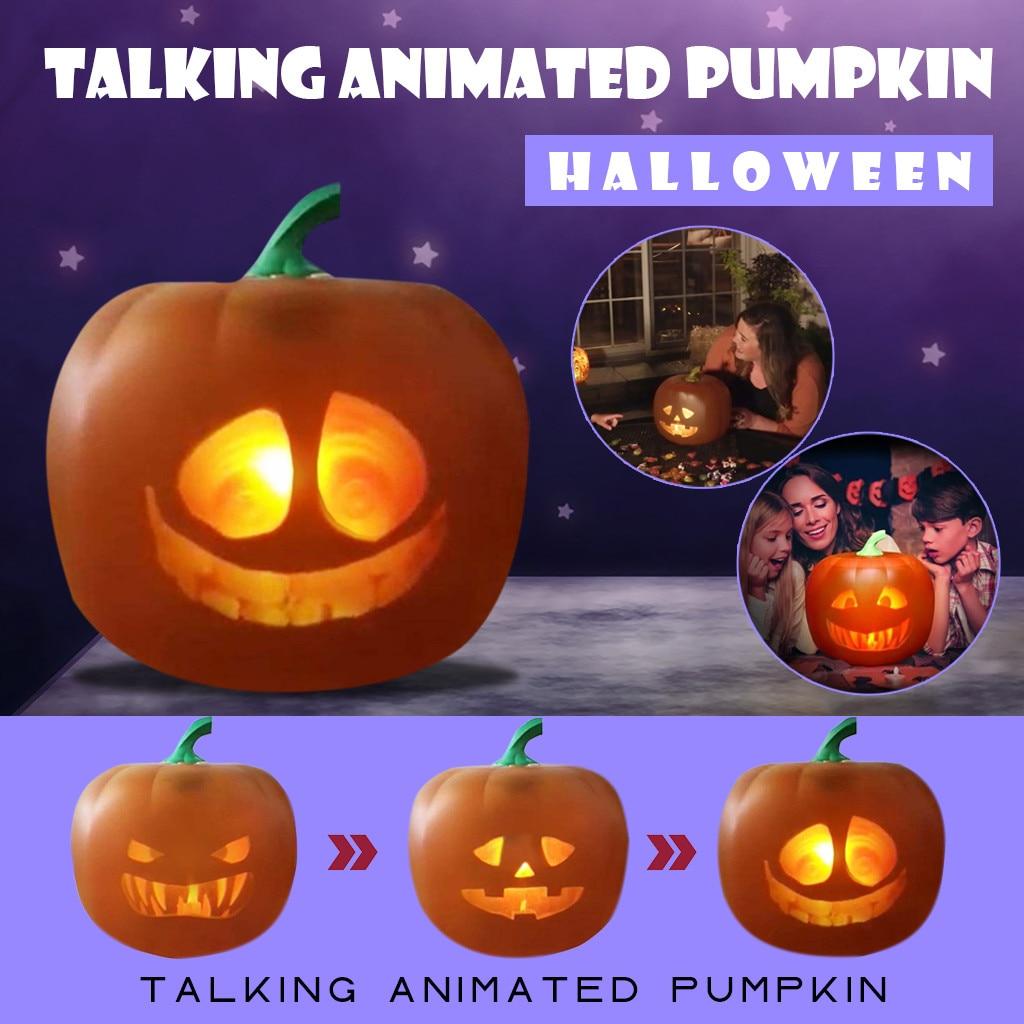 2020 New Halloween Glow In The Dark Pumpkin Toys Talking Animated Pumpkin Light With Built in Projector & Speaker 3 in 1#G30      - AliExpress