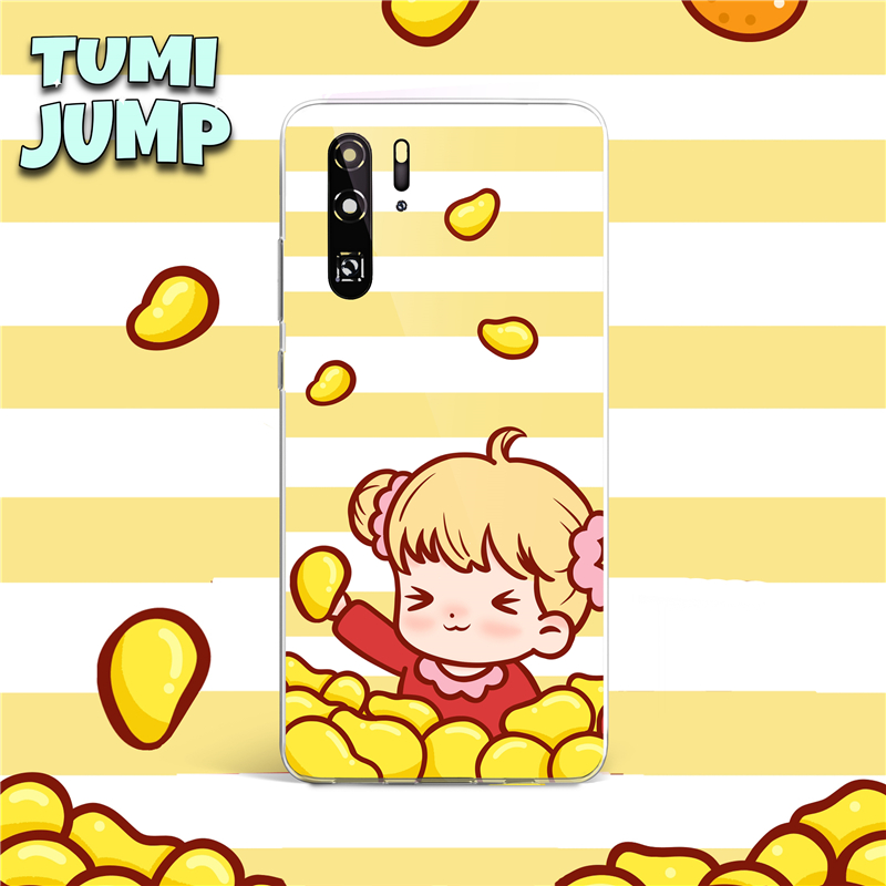 TUMIJUMP Series Cartoon Strawberry Soft TPU <font><b>Silicone</b></font> <font><b>Case</b></font> For Huawei P40 P30 P20 Lite Pro P Smart Plus 2019 Z Mate 20 30 Lite image