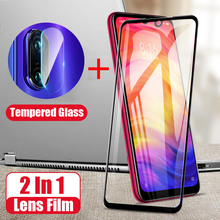 2 in 1 9D Tempered Glass For Xiaomi Redmi 7 Camera Lens Flim Screen Protector Protective Back Film