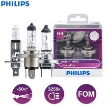 Philips VisionPlus H1 H3 H4 H7 H11 9003 9005 9006 HB2 HB3 HB4 VP 12V +60% More Bright Light Car Halogen Headlight Fog Lamps, 2X