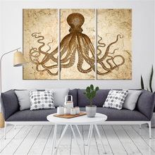 Wall Art Canvas Print Octopus Poster Print Wall Decor Canvas Painting 3 Piece Wall Pictures for Living Room Home Decoration