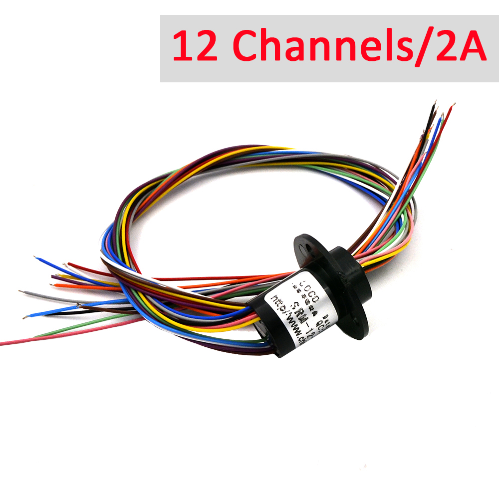 Micro Slip Ring 12 Channel 2A 12.5mm Rotate Dining Table Slip Ring Electric Collector Rings