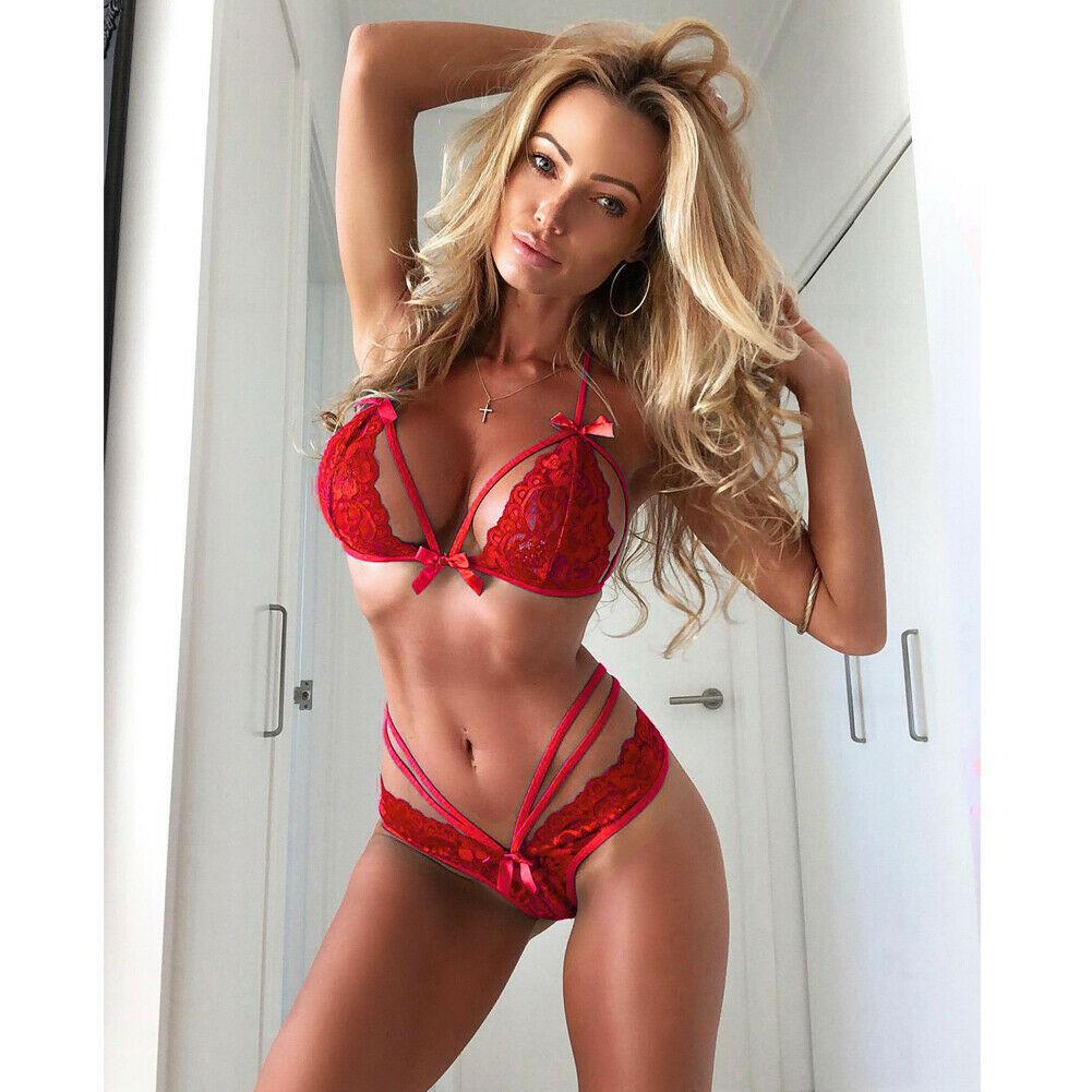 Hot 2020 Sexy Women Lingerie Set Lace Strappy Push Up Bra Set Erotic Lingerie Porno Femme Wire Free Underwear Bralette Set