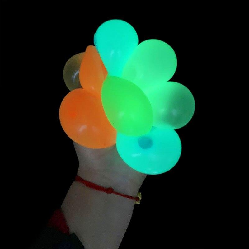 1/2/4 pièces bâton lumineux boule murale décompression Fidget jouets Globbles Fluorescent cible collante pour enfant adolescent adulte jouet