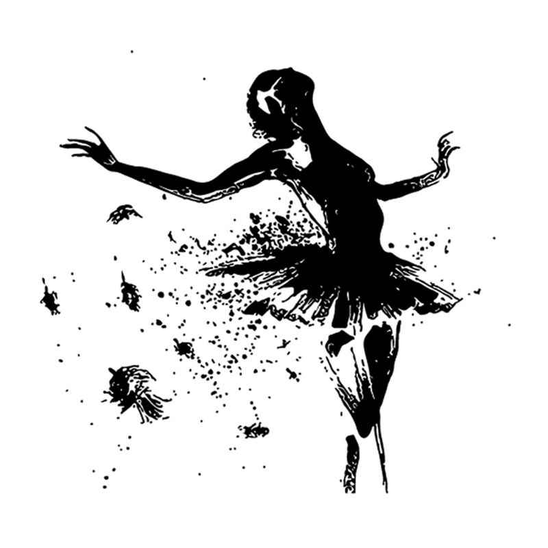 Dancer Silicone Transparent Stamp Background Clear Stamps DIY Scrapbooking Card Making GXMA