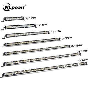 цена на Nlpearl 10-50inch Light Bar/Work Light Ultra Slim Combo LED Bar Offroad For Trucks 4X4 UAZ Off Road ATV LED Work Light 12V 24V