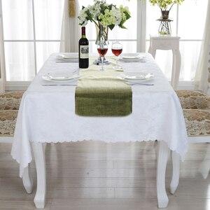 Image 3 - مفرش طاولة لحفل الزفاف مصنوع من الخيش الطبيعي مصنوع من الكتان المقلد مستلزمات تزيين الطاولة الريفية مفرش طاولة منسوجات منزلية فوق
