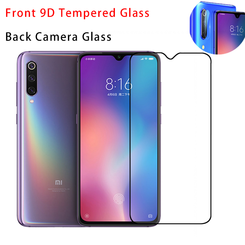 2IN1 <font><b>Camera</b></font> Lens Glass 9D Screen <font><b>Protector</b></font> for <font><b>Xiaomi</b></font> <font><b>Mi</b></font> 9 9D Cover Protective Film Tempered Glass for <font><b>Xiaomi</b></font> <font><b>Mi</b></font> <font><b>9T</b></font> Pro 8 Lite image