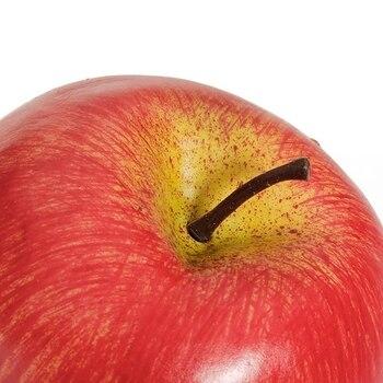New Decorative Artificial Apple Plastic Fruits Imitation Home Decor 6pcs Red