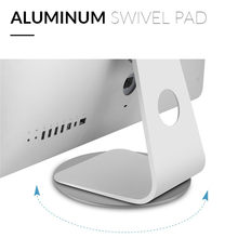 360 Rotation Computer Monitor Base Disc Non-slip Laptop Notebook Aluminum Alloy Stand Dock for Apple iMac Television Projector(China)