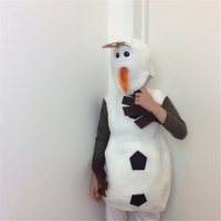 Cute Olaf Halloween Cosplay Costumes For Kids Frozen Movie Jumpsuit Dance Perfomance Carnival Game Wear Free Shipping