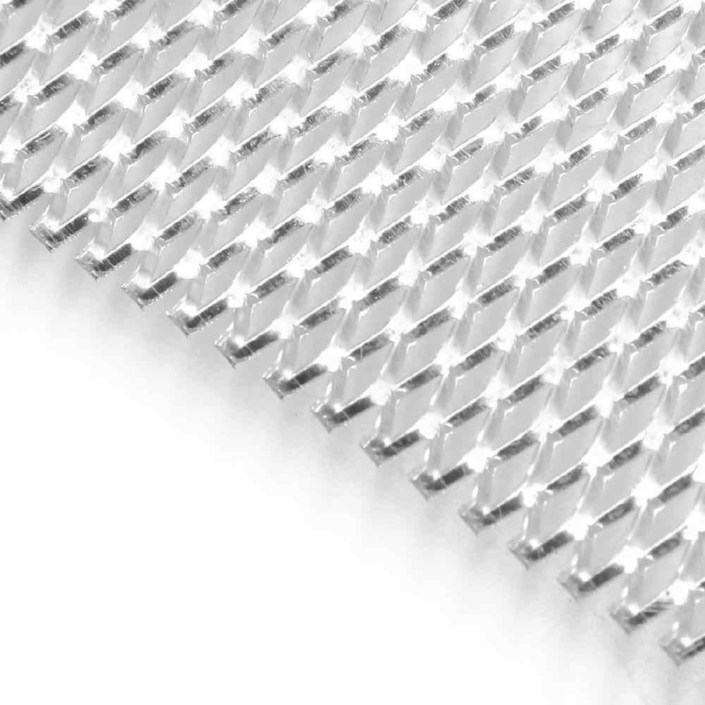 Feuille de maille de gril rhombique de pare-chocs avant d'alliage d'aluminium d'argent/noir de voiture de LumiParty (4x8mm) alliage d'aluminium de haute qualité r30