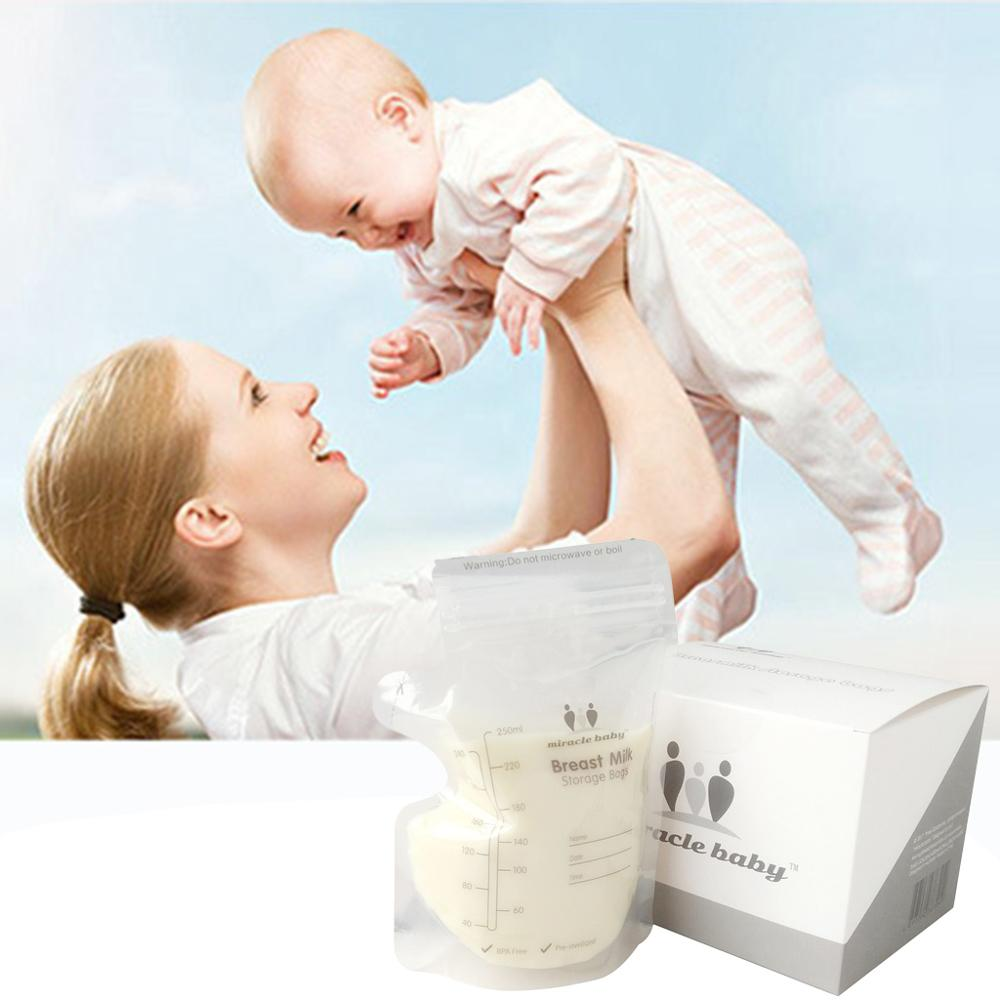 250ml Breast Milk Storage Bags 30/60/120 Pcs Baby Breastmilk Safe Container Bags 24BE