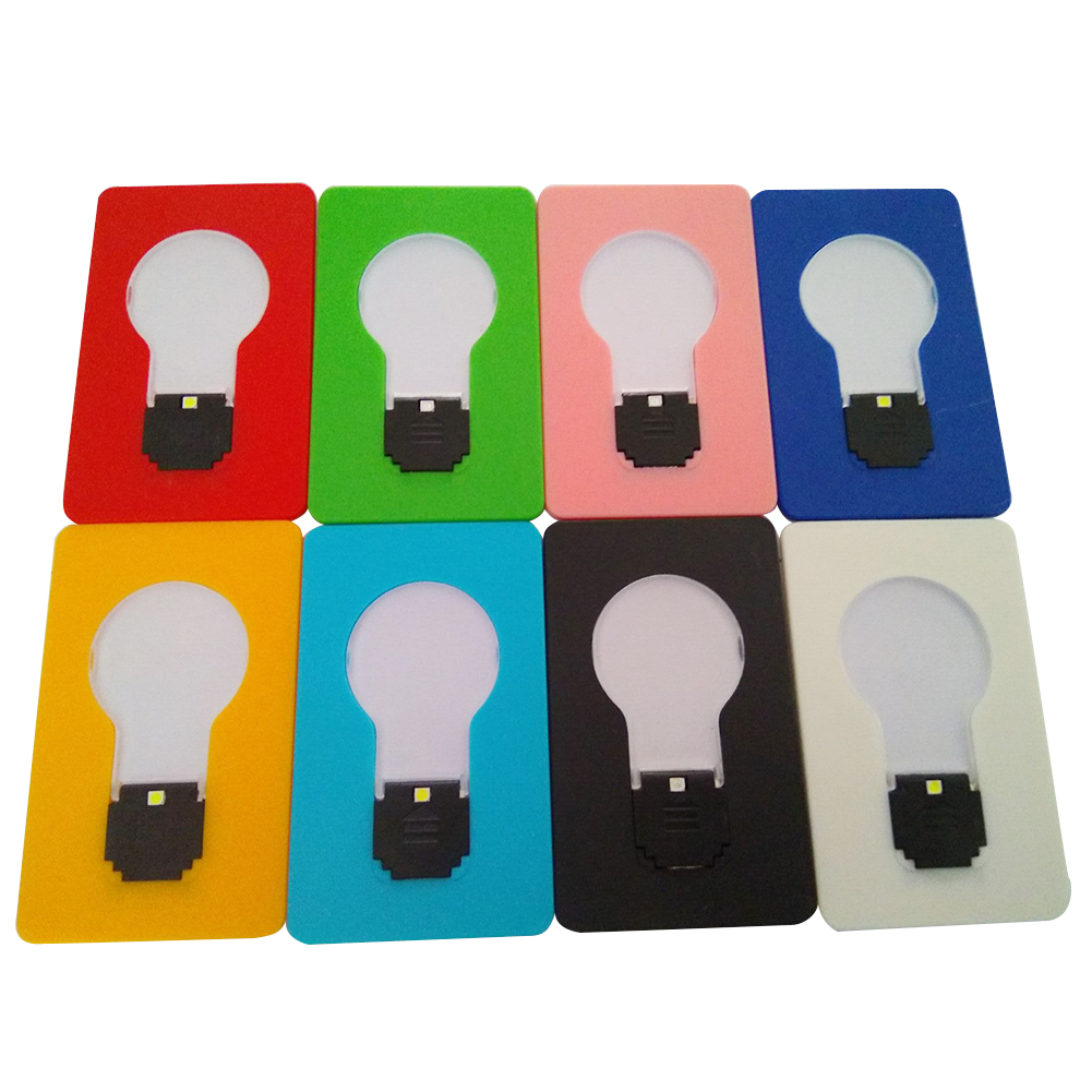 8pc/set Foldable Card Pocket LED Night Light Holiday Party Wedding Home Hotel Decoration Portable Children's Table Lamp Gift