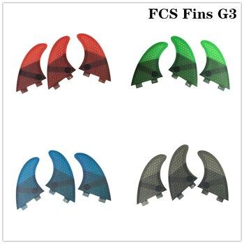 FCS G3 Surfboard Fin Honeycomb Fibreglass blue/black/red/green color Surf Fins G3 Quilhas Surfing FCS G3 Fin matrix g3 s71