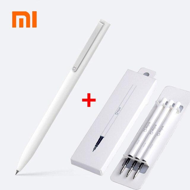 Оригинальные ручки для подписей Xiaomi Mijia 9,5 мм, гладкие швейцарские стержни PREMEC, японские чернила MiKuni с черными стержнями Mijia