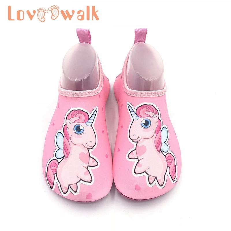 Children Beach Shoes Baby Soft Floor Indoor Slipper Snorkeling Swim Sock Boy Girls Unicorn Anti-slip Home Barefoot Kids Slippers