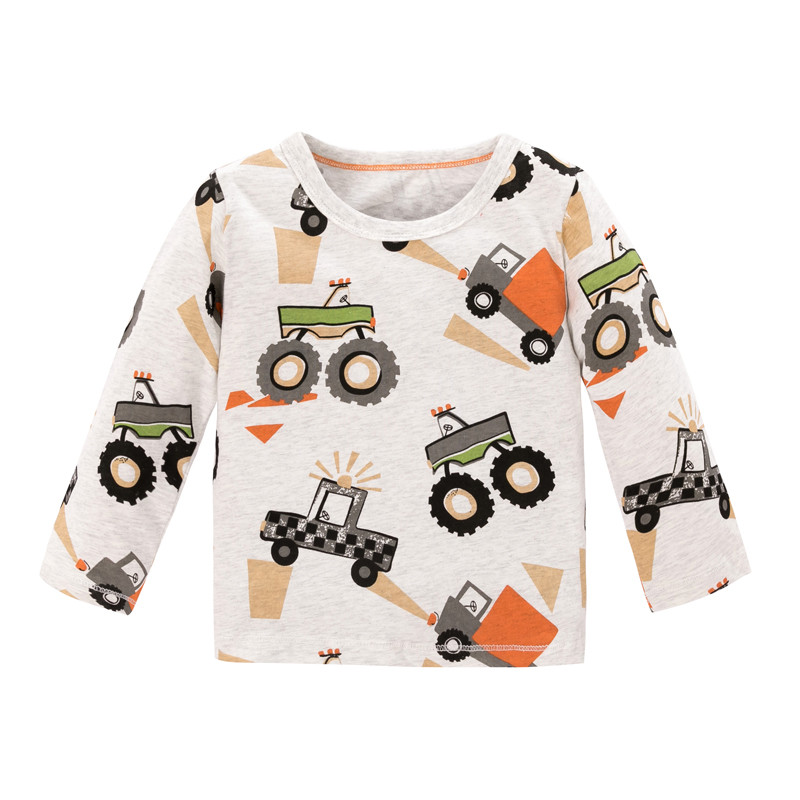 Jumping meters Baby Dinosaurs T shirts Cotton Girls Animals Clothing for Autumn Spring Children's Tees Tops 2