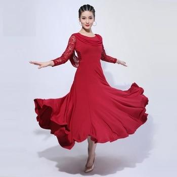 H2662 Women Ballroom Dance Long Dress Lady Waltz Modern Dancing New Style Elegant Professional Performance Competition Costumes