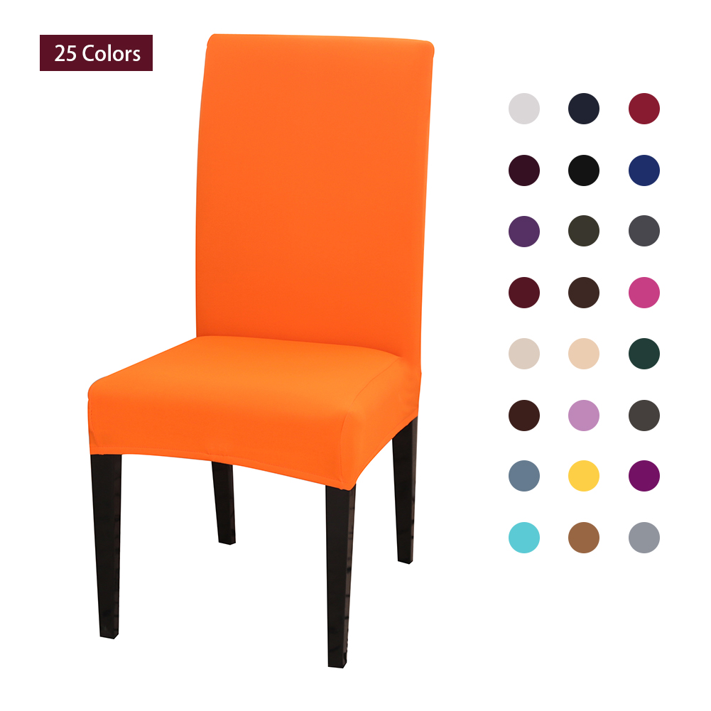 Meijuner Solid Color Chair Cover Spandex Stretch Slipcovers Protection Chair Covers For Dining Room Kitchen Wedding Banquet