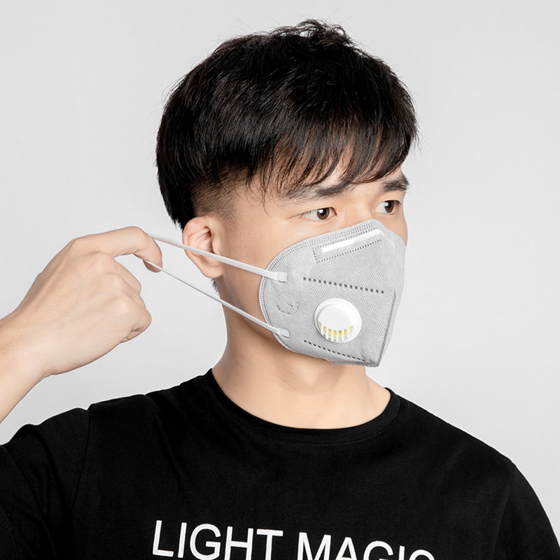 KN95 Mask Adult Proof Nonwoven Air Valved Anti Dust Mask PM 2.5 95% Respirator Mouth Face Masks N95 Healthy Proof Protection