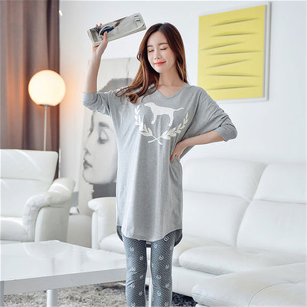 Korean-style Pajamas Women's Spring And Autumn Women's Korean-style Qmilch Pajamas WOMEN'S Dressing Gown
