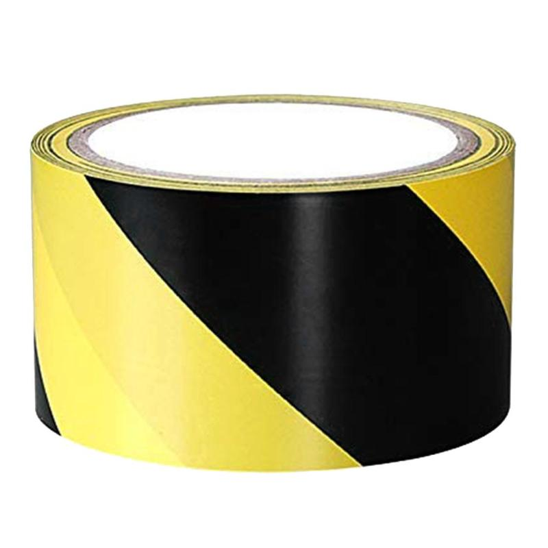 1 Roll PVC Self Adhesive Warning Tape Caution Mark Work Safety Remind Durable DIY Sticker For Safety Barrier Police Barricade