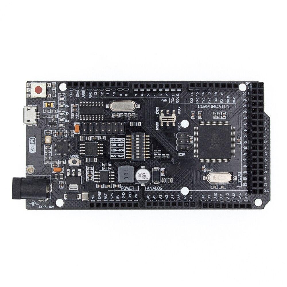 Mega2560 + WiFi R3 ATmega2560+ESP8266 32Mb Memory USB-TTL CH340G. Compatible For Arduino Mega NodeMCU For WeMos MEGA 2560