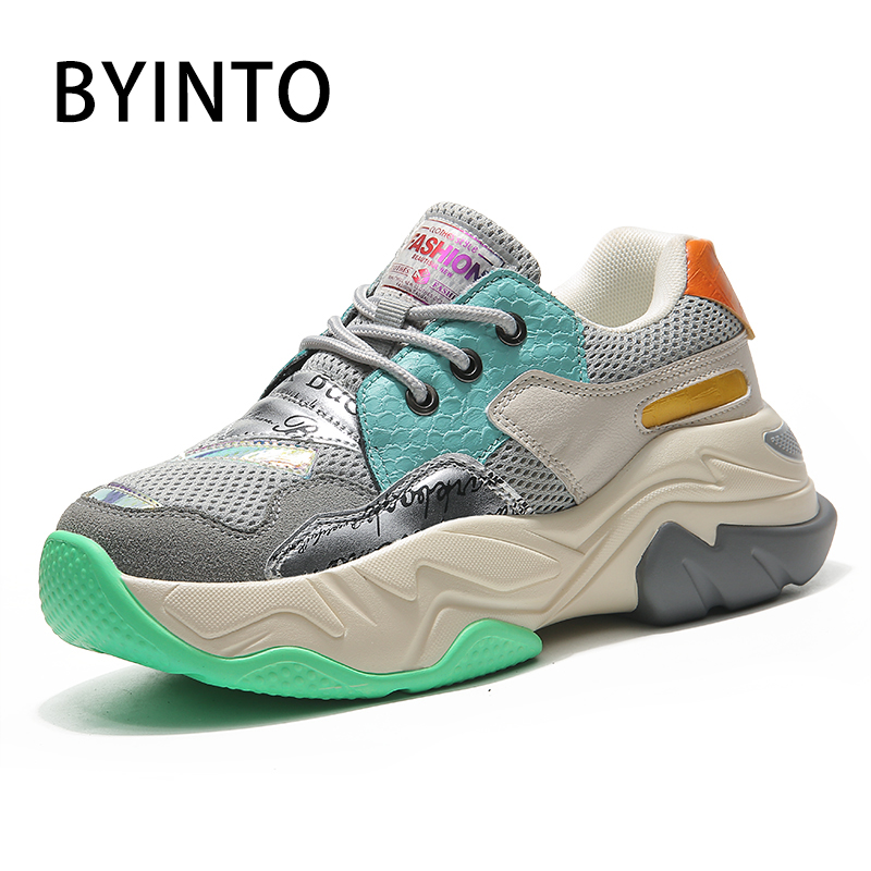 Big Size 36-42 New Wedge Platform Sport Tennis Shoes for Women Thick Bottom Chunky Sneakers Female Trainers Tenis Feminino Mujer