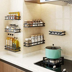 Настенная острая стойка из нержавеющей стали, крашеная кухонная приправа, стеллажи для специй для полок, столешниц, полки для шкафов, ванных...