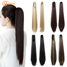 MEIFAN Synthetic Claw on Ponytail Hair Extension Nature Straight Fake