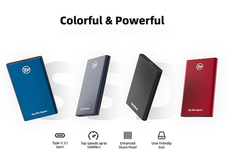 Portable SSD External hard drive 120GB SSD 240GB 500GB 1TB