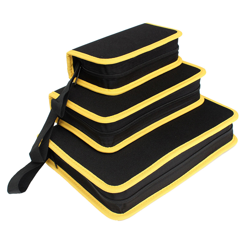 ELEG-Hardware Tool Toolkit Storage Bag Carrier Oxford Handy Zip Pouch Handbag, M 26*15*5.5Cm