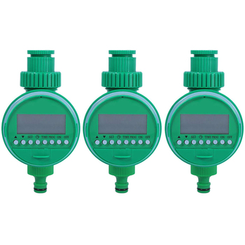 AFBC 3Pcs Automatic Electronic Timer Garden Irrigation Controller Electric Valve Garden Timer Watering Timer