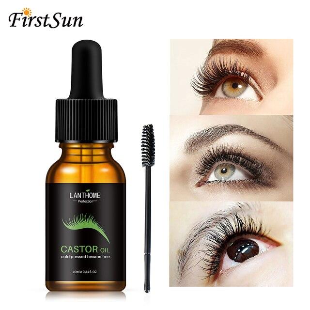 10ml Castor Oil Hair Growth Serum for Eyelash Growth Lifting Eyelashes Thick Eyebrow Growth Enhancer Eye Lashes Serum Mascara 3