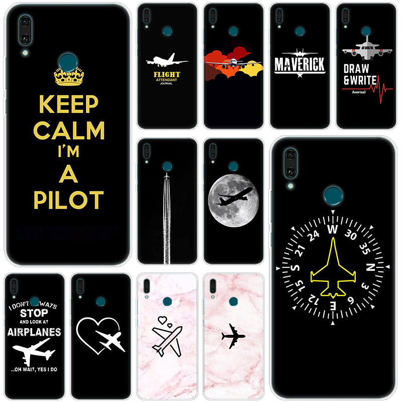 Airplane fly travel Pilot Plane <font><b>Silicone</b></font> <font><b>Phone</b></font> <font><b>Case</b></font> <font><b>for</b></font> <font><b>Huawei</b></font> Mate 30 20 10 Lite Pro Y9 Y7 <font><b>Y6</b></font> Prime Y5 2019 2018 Pro <font><b>2017</b></font> Cover image