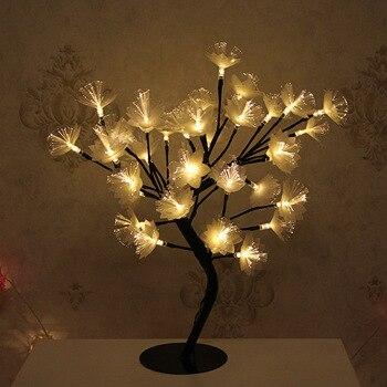 Promotion! LED saule branche lampe à piles Simulation orchidée branche lumineuse Vase remplissage fleur branche fée guirlande lumineuse (E