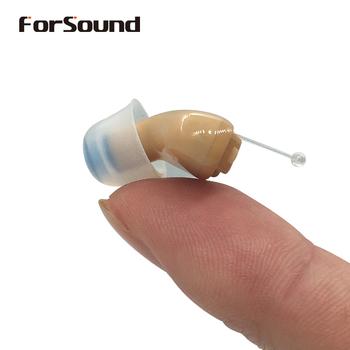 Najlepsza jakość Mini CIC aparat słuchowy niewidoczne aparaty słuchowe wzmacniacz dźwięku Drop Shipping Shopping tanie i dobre opinie FORSOUND Chin kontynentalnych Enjoy 127 Beige 112dB 31dB 80dB Mild to Moderate