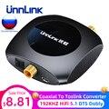 Unnlink оптический коаксиальный Toslink аудио конвертер 192 кГц HiFi 5 1 DTS Dobly-AC3 SPDIF оптический Toslink для коаксиального ТВ PS4